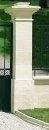 Piliers en pierre reconstituéeVALANCAY MONUMENTAL haut.225,5cm coloris natirel - Plan de travail chêne massif brut lamellé-abouté à finir larg.65cm long.3,10m ép.32mm - Gedimat.fr