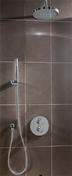 Kit à encastrer rond 2 fonctions KIRUNA laiton diam.20cm chromé - Colonnes et Combinés de douches - Salle de Bains & Sanitaire - GEDIMAT