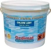 Chlore lent galet 250g seau 5kg - Tuile à douille ROMANE SANS diam.120mm coloris patrimoine - Gedimat.fr