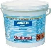 Chlore rapide 60 en granulés seau de 5 kg - Accessoires et Equipements - Aménagements extérieurs - GEDIMAT