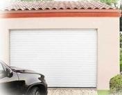 Porte de garage enroulable en aluminium motoris�e haut.2,00m larg.2,40m blanc - Portes de garage - Menuiserie & Am�nagement - GEDIMAT