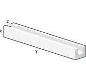 Bloc béton cellulaire linteaux horizontal U de coffrage ép.30cm larg.25cm long.600cm - Bloc linteau Béton cellulaire Linteaux ép.24cm larg.25cm long.300cm - Gedimat.fr