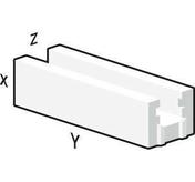 Bloc béton cellulaire chainage horizontal U long.60cm haut.25cm ép.20cm - Bloc béton cellulaire linteaux horizontal U de coffrage ép.20cm larg.25cm long.200cm - Gedimat.fr