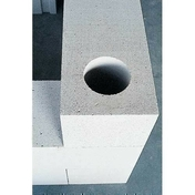 Bloc de béton cellulaire d'angle MAXI dim.60x60cm ép.30cm - Tuile AQUITAINE coloris flammé rustique - Gedimat.fr