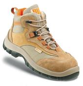 Chaussure de sécurité haute croûte de velours et nylon T44 beige - Protection des personnes - Vêtements - Outillage - GEDIMAT