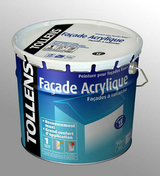 Peinture façade acrylique monocouche blanc mat 10L + 20% Gratuits - Peintures façades - Peinture & Droguerie - GEDIMAT