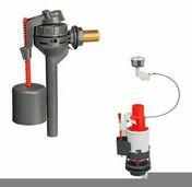 Ensemble mécanisme double chasse à câble et robinet compact pour réservoir de chasse - WC - Mécanismes - Salle de Bains & Sanitaire - GEDIMAT