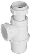 Siphon de lavabo Gamme BASIC plastique - Fronton pour faîtière 1/2 ronde à recouvrement coloris noir - Gedimat.fr
