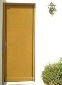 Porte d'entrée MAELLE Bois exotique avec isolation totale de 160 mm  gauche poussant haut.2,15m larg.90cm - Bande de chant mélaminé pré-encollé ép.4mm larg.23mm long.100m Cappucino - Gedimat.fr