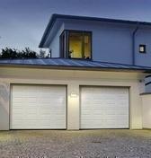 Porte de garage sectionnelle CLASSIC motoris�e type G60 haut.2,00m larg.2,40m d�cor cassettes coloris blanc - Portes de garage - Menuiserie & Am�nagement - GEDIMAT