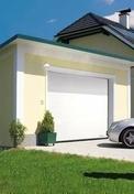 Porte de garage sectionnelle TREND type G60 haut.2,00m larg.2,40m coloris blanc - Portes de garage - Menuiserie & Am�nagement - GEDIMAT