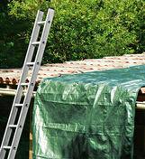 Bâche de protection lourde toile tissée indéchirable larg.5m long.8m vert/marron - Brique terre cuite arase POROTHERM R20 ép.20cm haut.12,4 cm long.50cm - Gedimat.fr