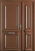 Porte d'entrée ODYSSEE en aluminium gauche poussant haut.2,15m larg.90cm laqué blanc - Pavé en béton ép.8cm dim.11x11cm coloris noir - Gedimat.fr