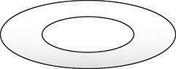 Rosace de finition 155-230 I/G BL - Accessoires de ramonage - Chauffage & Traitement de l'air - GEDIMAT