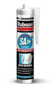 Mastic sanitaire silicone SA2 cartouche 300ml blanc - Laque satinée glycéro intérieur/extérieur 2,5L blanc - Gedimat.fr