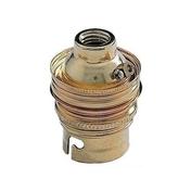Douille électrique laiton double bague culot à baïonnette B22 pour ampoule baïonnette - Fiches - Douilles - Adaptateurs - Electricité & Eclairage - GEDIMAT