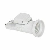 Douille et fiche DCL plastique pour lampe de puissance maxi 60W - Fronton pour rives verticales DC12 et DCL coloris rouge - Gedimat.fr