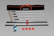 Kit de protection ZIPPER composé de 4 perches télescopiques de 1,58m à 3,60m + 2 rails + 2 zipper - Protections des chantiers - Outillage - GEDIMAT