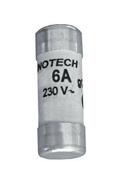 Cartouche fusible céramique cylindrique sans témoin de fusion diam.6,5mm long.23mm intensité 6A sous blister de 3 pièces - Fusibles - Electricité & Eclairage - GEDIMAT