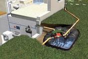 Kit de récupération et utilisation d'eau de pluie à enterrer HABITAT PLATINE ECO+ cuve 5000L - Manchon acier galvanisé 270 égal femelle femelle à butée diam.15x21 en vrac 1 pièce - Gedimat.fr
