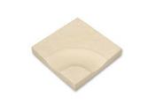 Caniveau courbe dalle pour terrasse ou piscine en pierre reconstitu�e ABBAYE dim.35x35cm coloris pierre - Pav�s - Dallages - Mat�riaux & Construction - GEDIMAT