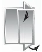 Fen�tre PVC Blanc CLASSIC70 2 vantaux oscillo-battant vitrage transparent haut.1,05m larg.1,20m - Fen�tres - Portes fen�tres - Menuiserie & Am�nagement - GEDIMAT