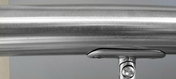 Main courante inox orientable long.1,95 m diam.40mm pour gamme garde-corps en inox - Support R7 pour main courante RONDO - Gedimat.fr