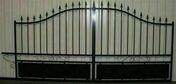 Portail coulissant réversible (droit ou gauche) MONTARGIS en fer haut.1,35m et 1,78m au centre larg.entre piliers 3,50m noir - Poutre VULCAIN section 20x50 cm long.4,50m pour portée utile de 3,6 à 4,10m - Gedimat.fr