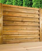 Raidisseur pour clôture EOLIA et CEYLAN ép.16mm larg.4cm long.2,00m brun - Poteau en bois (pin) pour clôture CEYLAN haut.2,40m larg.4,5cm long.9cm brun - Gedimat.fr