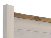 Lame en bois (pin du nord) pour clôture HV top/base ép.58mm larg.7cm long.1,95m verte - Ecrans - Clôtures - Menuiserie & Aménagement - GEDIMAT
