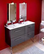 Miroir SUCCES cadre aluminium Haut.74cm larg.40cm - Armoires de toilette et Accessoires - Salle de Bains & Sanitaire - GEDIMAT