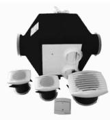 Groupe VMC hygrocomut série MAISON'AIR norme NF 24Wh - Kit VMC simple flux Maison'Air Compact - Gedimat.fr