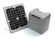 Kit solaire M HOUSE PF pour motorisation de portail - Volet battant PVC ép.24mm blanc 2 vantaux haut.1,15m larg.1,30m - Gedimat.fr