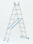 Echelle aluminium transformable 2 plans COGNET STARLINE haut.2,27m à 3,67m déployée - Echelles - Echafaudages - Goulottes - Matériaux & Construction - GEDIMAT