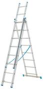 Echelle aluminium transformable 3 plans STARLINE + haut.3,11m à 6,75m déployée - Feuille de stratifié HPL avec Overlay ép.0.8mm larg.1,30m long.3,05m décor Chêne Caucase finition Velours bois poncé - Gedimat.fr