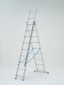 Echelle aluminium transformable 3 plans STARLINE + haut.2,55m à 5,91m déployée - Echelles - Echafaudages - Goulottes - Matériaux & Construction - GEDIMAT