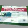 Bache en polyéthylène renforcée anti U.V. pour la protection du chantier MULTICOVER VERT larg.6m long.12m - 72m² - Bâches - Outillage - GEDIMAT