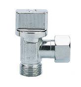 Robinet d'arrêt WC équerre 1/4 de tour diam.12x17mm laiton chromé - Robinetterie du bâtiment - Plomberie - GEDIMAT