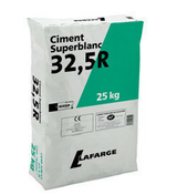 Ciment blanc SUPERBLANC CEM II 32,5 CE NF sac de 35kg - Sèche serviettes ACOVA Fassane SPA asymetrique eau chaude 594W blanc - Gedimat.fr