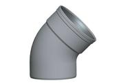 Coude PVC assainissementmF 45° diam.160mm type SDR 34 - Tuile TRAPIDANNE coloris rouge sienne - Gedimat.fr