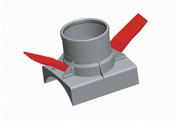 Raccord SOTRACLIP 90° pour CR4/CR8 diam.400X160mm - Tuyaux - Gaines - Grillages avertisseurs - Matériaux & Construction - GEDIMAT