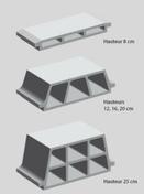 Entrevous béton ép.12cm long.24cm larg.53cm NF - Poutre VULCAIN section 20x30 cm long.3,00m pour portée utile de 2.1 A 2.60m - Gedimat.fr