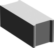 Bloc béton plein B120 NF ép.17,5cm haut.20cm long.50cm - Fenêtre PVC blanc CALINA isolation totale de 100 mm 2 vantaux oscillo-battant haut.1,35m larg.1,20m - Gedimat.fr