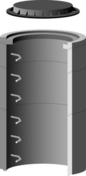 Elément de regard béton TP rond diam.80cm 2 échelons haut.60cm - Paroi de douche CUBIVER 198 nuagée Kit n°1 haut.2,02m larg.83,2cm - Gedimat.fr