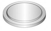 Fond plat béton pour regard TP rond diam.80cm haut.60cm - Tuyau diam.120mm utile coloris rouge - Gedimat.fr
