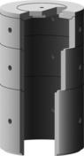 Anneau de puits b�ton diam.int.1,00m haut.1,00m 9 trous - Couvercle de buse b�ton diam.int.1m avec trou de visite diam.50cm - Gedimat.fr