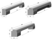 Bordure béton avaloir T2 larg.15cm haut.25cm long.1m - Bordures - Matériaux & Construction - GEDIMAT