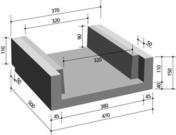 Caniveau béton de descente d'eau en U type 1 larg.47cm haut.15cm long.50cm - Bois Massif Abouté (BMA) Sapin/Epicéa non traité section 45x120 long.12,50m - Gedimat.fr