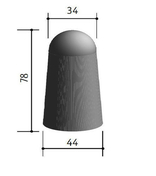 Borne béton grand modèle haut.78cm diam.44/34cm - Bordures - Matériaux & Construction - GEDIMAT