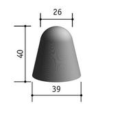 Borne béton petit modèle haut.40cm diam.39/26cm - Bordures - Matériaux & Construction - GEDIMAT